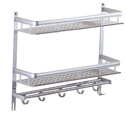 MyAou-Shelf Shelves Toilet Stainless steel racks Wall-mounted Bathroom Toilet Washroom Washstand Bathroom Amenities Shower Set Chrome shower shelf 2 story (Size : (Amenity Shaving Cream)