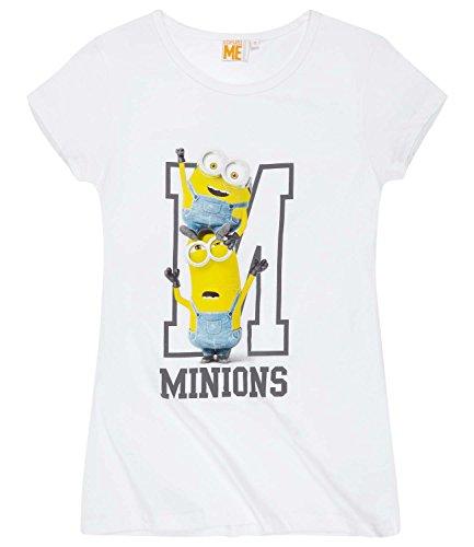 Minions Despicable Me Mujeres Camiseta manga corta 2016 Collection - Blanco Blanco