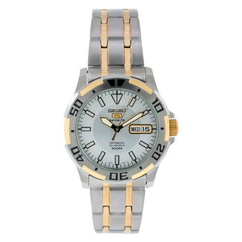 Seiko-Mens-SNZJ42-Two-Tone-Stainless-Steel-Analog-with-Silver-Dial-Watch