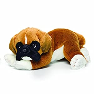 Nat and Jules Lounging Large Boxer Dog Children's Plush Stuffed Animal Toy 1