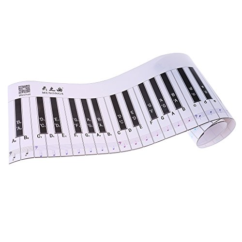 MonkeyJack 88 Key Simulation Standard Paper Piano Keyboard for Students Piano Practice - Learning Version ()