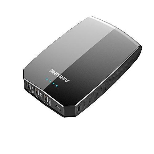 Power Bank,AIRGINE 15000mAh High Capacity 3 Ports Powerbank Smart Quick Charging Portable Battery Charger(Black)