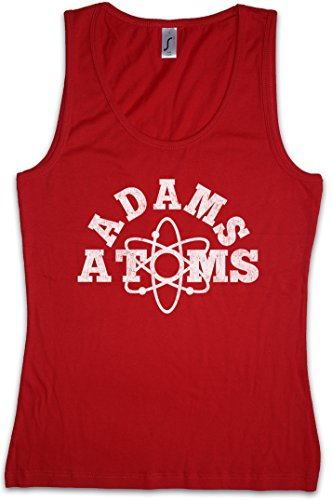 (Adams Atoms Women Tank Top Gym Fitness Training Shirt Red)