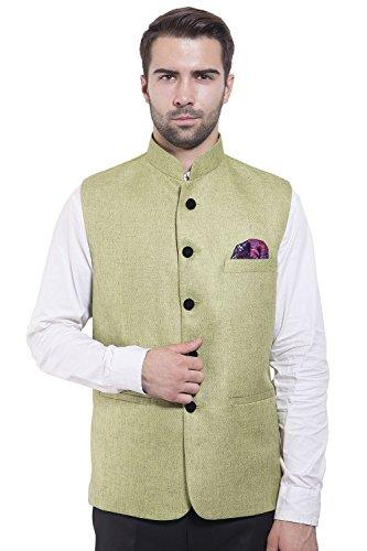 Pour Wintage Vert En Couleurs De 19 Bandhgala Disponible Nehru Costume Homme Gilet Festif Rayon rZnOX
