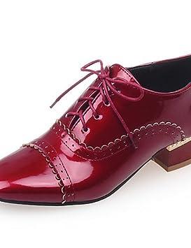 Oxfords Oficina Zapatos Mujer Cuadrada Y De Punta Tacón Bajo Njx 78R0Zqwq