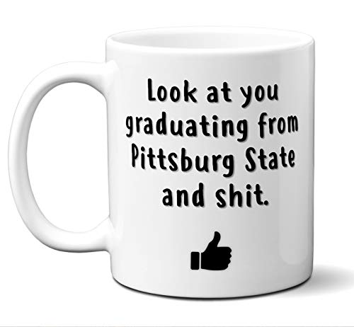 Cap State Pittsburg (College Graduation Gifts. Pittsburg State University (pittstate) Grad Coffee Mug Cup Men Women Him Her School Students Class 2019. Funny School Grad Diploma Academic Degree Congratulations. 11 oz)