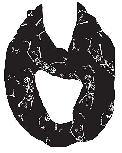Dancing Skeleton Infinity Scarf Theme Party Halloween Costume Accessory