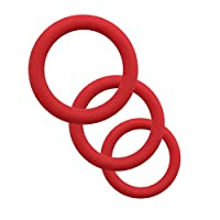 AISme Silicone Male Enhancement Exercise Bands O Ring 3 Different Size Flexible Rings by AISme