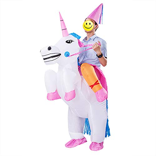 ESHIRYU Halloween Inflatable Costumes Inflatable Unicorn Rider Costume for Adults Men&Women (Unicorn) (Unicorn) -