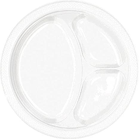 Amscan Lavender Divided Plastic Plates 200 ct Party Supply TradeMart Inc 10.25 43033.04