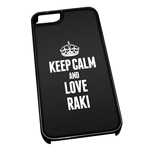 Nero cover per iPhone 5/5S 1442nero Keep Calm and Love Raki