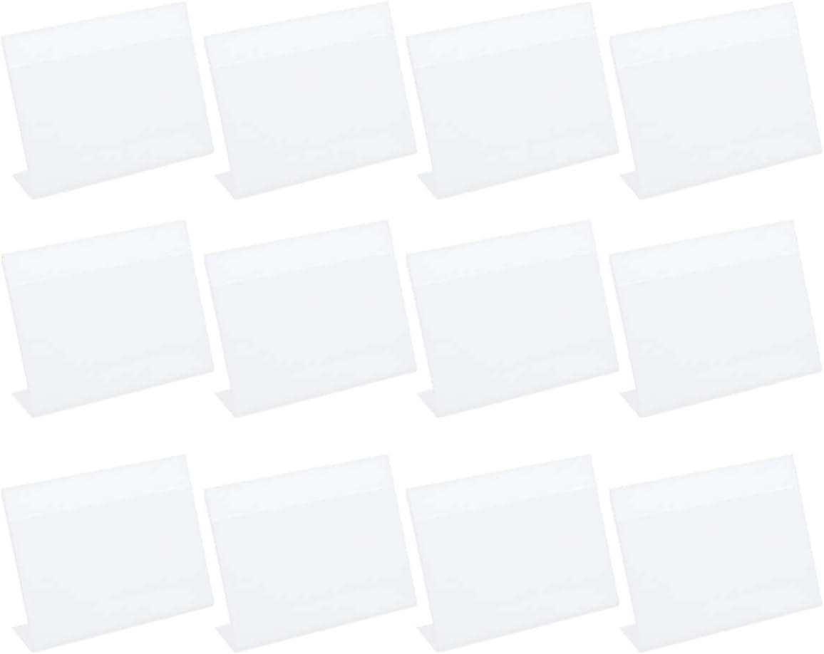 NUOBESTY 20 st/ücke klar kunststoff etikettenhalter draht regal einzelhandel preisschild etikettenkarte waren zeichen display halter ticket halter klar blau