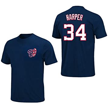 quality design d49b4 1dc2a Bryce Harper Washington Nationals Youth Navy Jersey Name and ...