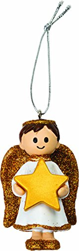 Cute Gold Boy Angel Christmas Tree Decoration Ornament Bauble (Finley)