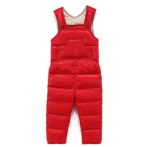 Baby Boy Girl One Piece Sleeveless Snowsuit Toddler Warm Romper Jumpsuit Red 90 (4t Kids Snowsuit One Piece)