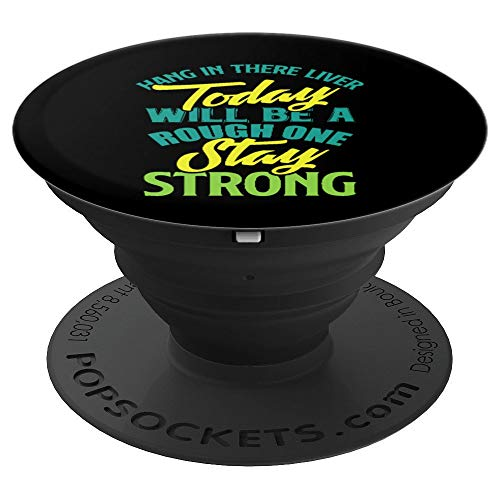 Mom Drinking Gift Funny Beer Drink Wine Liver Today Strong - PopSockets Grip and Stand for Phones and Tablets