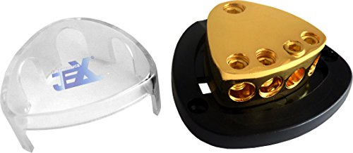 Jex Electronics 4-Way Car Audio Stereo Amp Power/Ground Cable Splitter Distribution Block 2ga by Jex Electronics (Image #2)