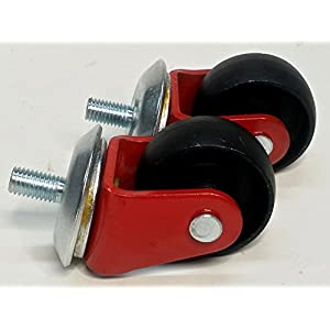 Floor Jack Casters (2 Pc Set) All Steel, Fits Many