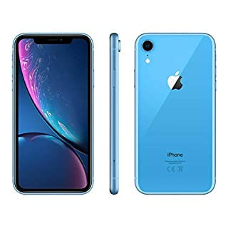 Apple iPhone XR, 64GB, Blue - Fully Unlocked (Renewed)
