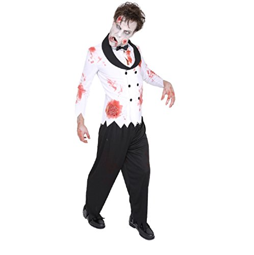 ZOMBIE COLLECTION Zombie Bride Costume -- Men's S/M Size