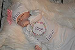 Personalized Baby Girl Outfit, Newborn G...