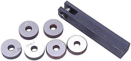 No Logo Rändelfräswerkzeuge 7X einzelnes Rad Gerade Linear Rändelwerkzeug Set 0 5mm 1.5mm 2mm Pitch für Metalldrehmaschine