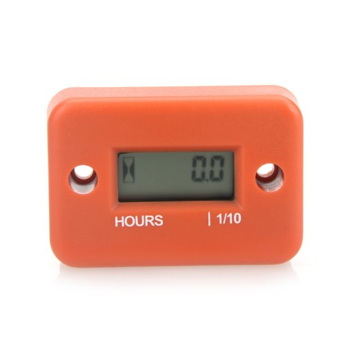 Price comparison product image Docooler Inductive Hour Meter for Marine ATV Motorcycle Dirt Ski Waterproof - Orange