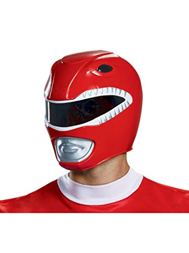 Disguise Men's Red Ranger Helmet, One Size Adult