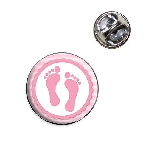 Baby Girl Footprints Lapel Hat Tie Pin Tack ()