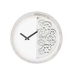 Benzara Antique Colonial Designer Stainless Steel Gear Wall Clock