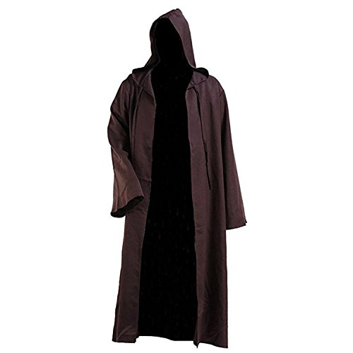 Men Robe Costume Adult Hooded Robe Cloak Knight Fancy Robe Cosplay Costume]()