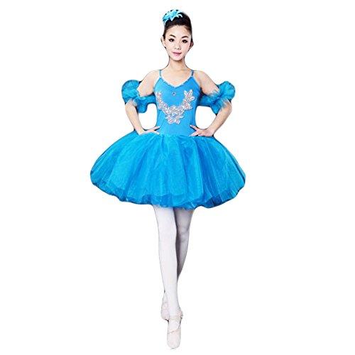 Adult Ballet Dress/Sling Ballet Skirt/Swan Lake Costumes,XL-Blue (Swan Ballet Costume)