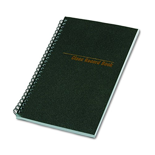 National 33990 Class Record Book, 6-Day/6-Week Format, 9-1/2 x 5-3/4, Black, 120 Pages ()