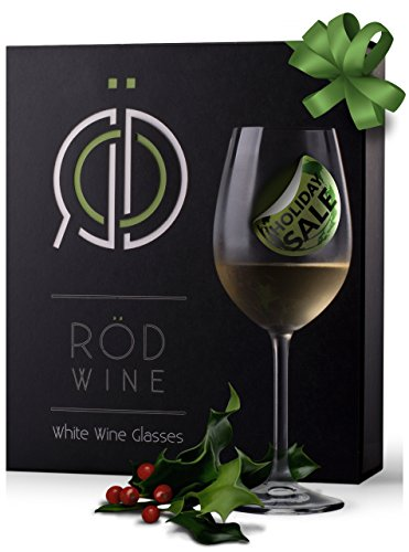 Purpose White Wine Glass (RÖD Wine Best Gift Glassware Collection Lead Free Crystal Light Red Wine and White Wine Glasses (12-Ounce, Set of)