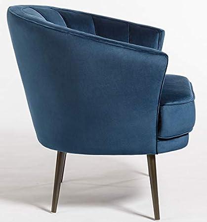 Amazon.com: Pair of 2 Porter Ocean Velvet Occassional Chairs ...