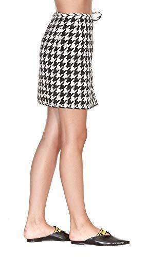 Laine OFF Jupe OWCC050E18B160679960 Femme Noir Blanc WHITE wnfZ0Hz