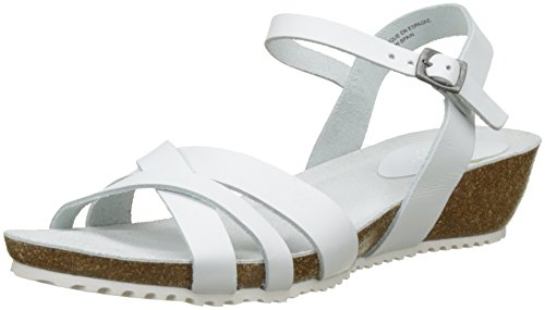 TBS Women's Sabinne A7 Sling Back Sandals White (Blanc) sale limited edition QSuyW1dJm