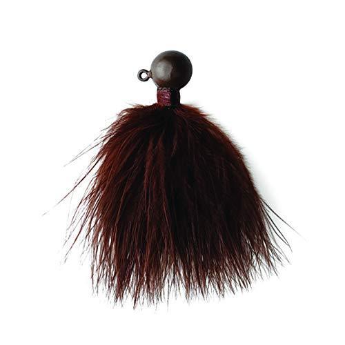 Eagle Claw Marabou Jigs, Ginger Finish, 1/4 oz