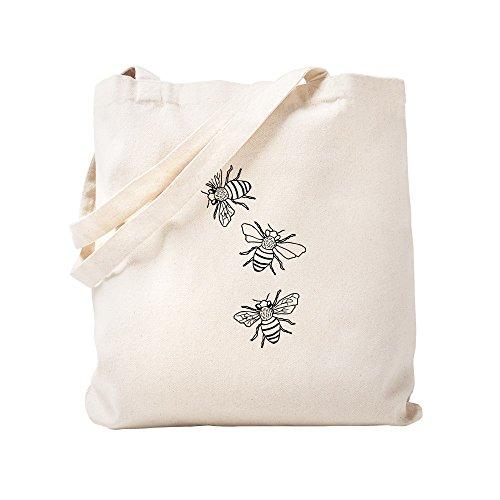 CafePress Honey Bees Natural Canvas Tote Bag, Cloth Shopping Bag