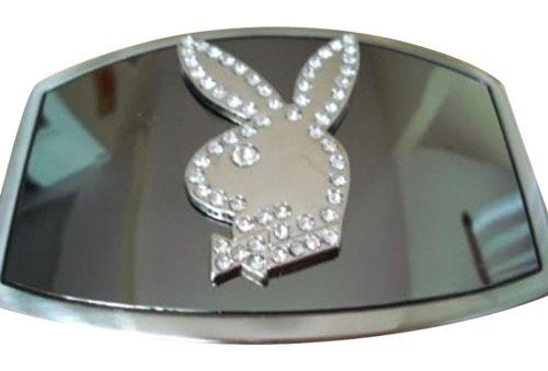 JK Trading Men's Playboy Bunny Rhinestone Belt Buckle ()