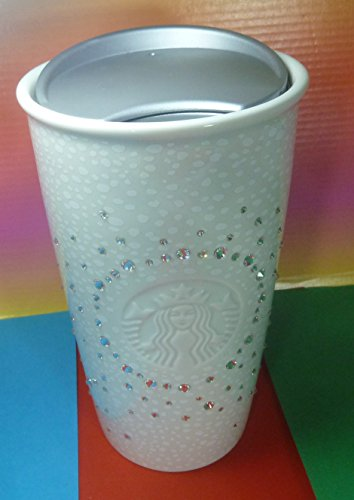 STARBUCKS TUMBLER WITH SWAROVSKI BEADS WHITE FESTIVE CHRISTMAS 2016 LIMITED EDITION,LOVELY,NEW by Starbucks