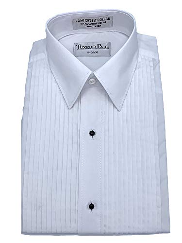 Tuxedo Shirt- White Laydown Collar 1/4