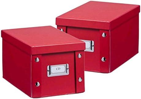 2 x ZELLER CD BOX con tapa roja para 20 CD y caja de almacenaje ...