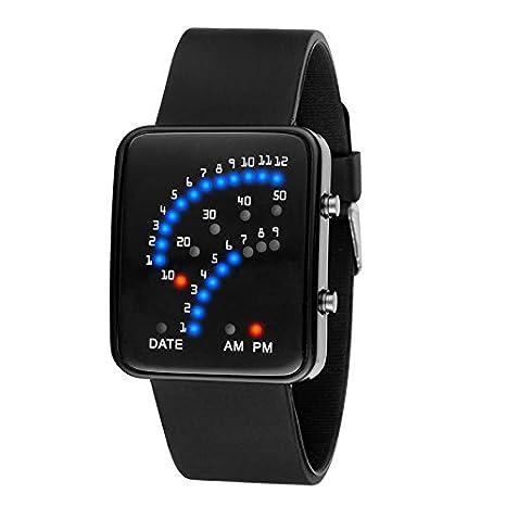 Wildlead LED reloj de pulsera electrónica Sector binario Digital Resistente Al Agua Mode Unisex par de relojes: Amazon.es: Hogar