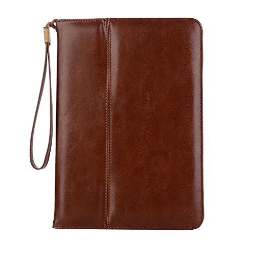 Mini 4 iPad Case, Vacio PU Leather Case Tablet Smart Stand Case Slim Fit Cover with Card Slot and Hand Strap for iPad MINI 4 (Deep Brown) by Vacio