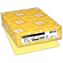 """Exact Index Cardstock, 8.5"""" x 11"""", 90lb/163gsm, Canary, 250 Sheet (49141)"""