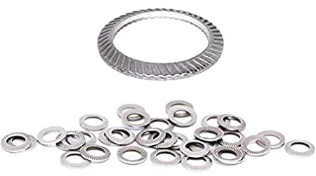 50pcs Schnorr M3 Stainless Brand Ribbed Safety Spring Lock Washer Metric BelMetric WSH3SS