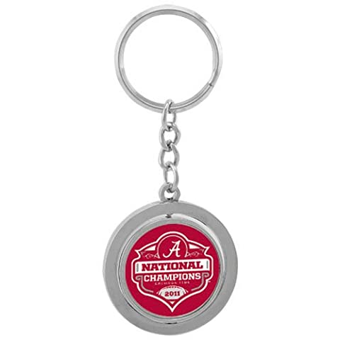 NCAA Alabama Crimson Tide 2011 BCS National Champions Spinning Keychain () - National Champions Keychain