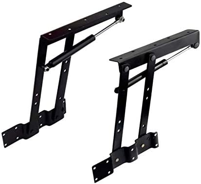 2pcs Folding Lift up Top Coffee Table Lifting Frame Desk Mechanism Hardware Fitting Hinge Spring Standing Rack Hinge Rack Bracket (Gas Hydraulic)