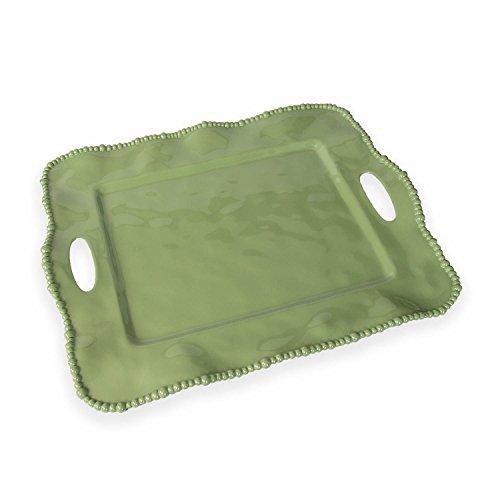 - Beatriz Ball Alegria Rectangular Tray with Handles, Green